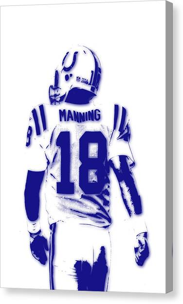 Indianapolis Colts Canvas Print - Peyton Manning Colts 2 by Joe Hamilton