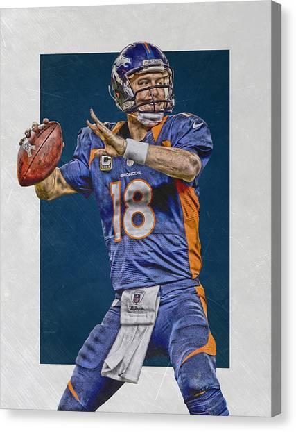 Peyton Manning Canvas Print - Peyton Manning Denver Broncos Art 2 by Joe Hamilton