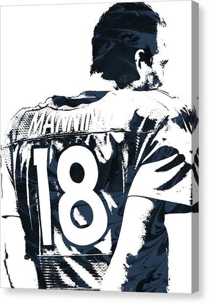 Peyton Manning Canvas Print - Peyton Manning Denver Broncos Pixel Art by Joe Hamilton