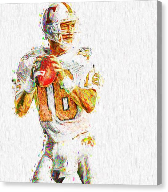 Peyton Manning Nfl Football Painting Tv Canvas Print
