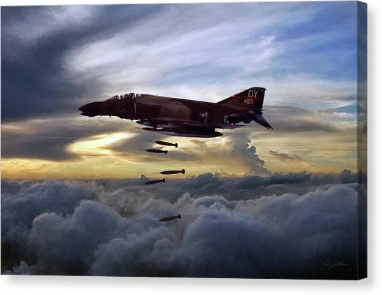 Sidewinders Canvas Print - Phantom Delivery by Peter Chilelli