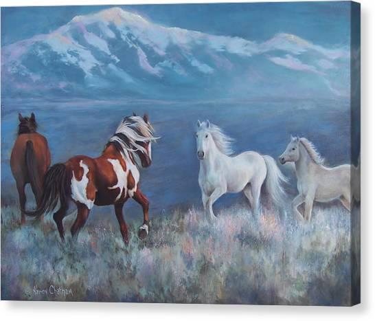 Phantom Of The Mountains Canvas Print