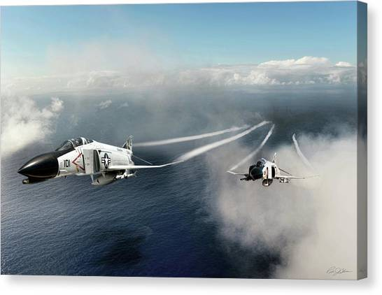 Sidewinders Canvas Print - Phantom Section by Peter Chilelli