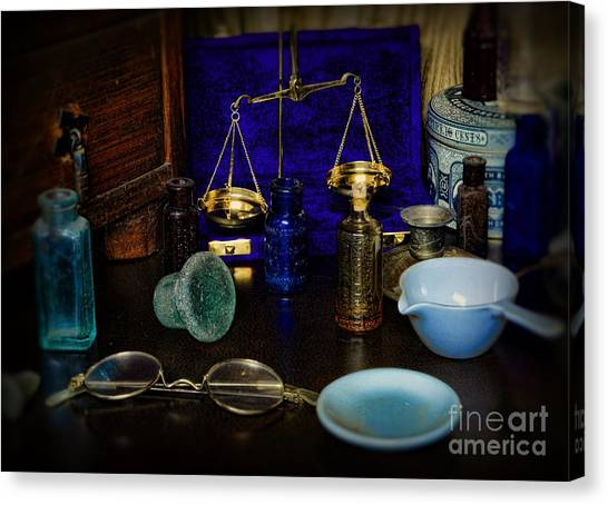 Ward Canvas Print - Pharmacist - Scale And Measure by Paul Ward