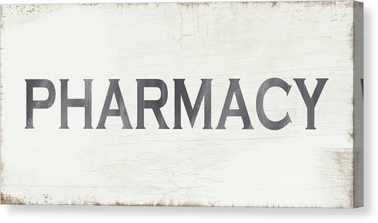 Cottage Style Canvas Print - Pharmacy Sign- Art By Linda Woods by Linda Woods
