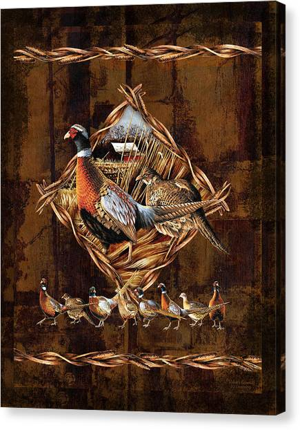 Pheasants Canvas Print - Pheasant Lodge by JQ Licensing