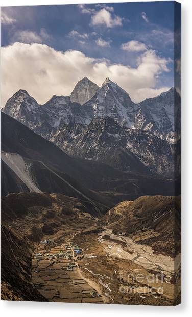 K2 Canvas Print - Pheriche In The Valley by Mike Reid