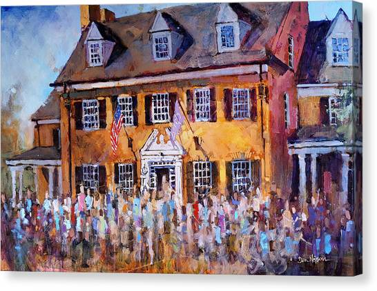 Fraternity Canvas Print - Phi Gamma Delta Unc by Dan Nelson