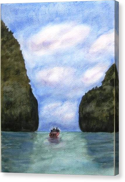Phi Phi Islands Canvas Print by Monika Deo