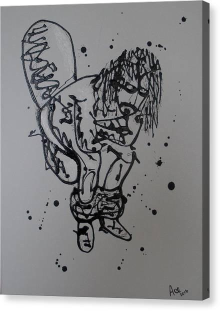 Frank Zappa Canvas Print - Phi Zappa Krappa by James A Osborn