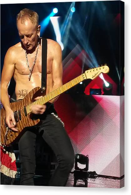 Def Leppard Canvas Print - Phil Collen Of Def Leppard 2 by David Patterson