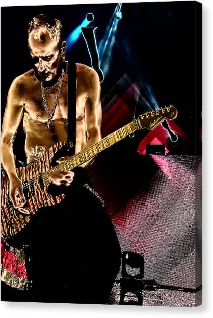 Def Leppard Canvas Print - Phil Collen Of Def Leppard 3 by David Patterson