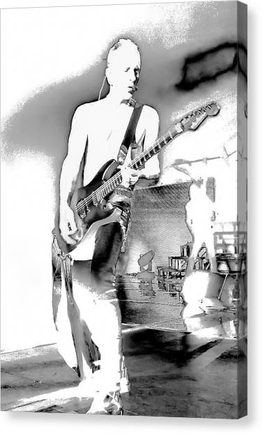 Def Leppard Canvas Print - Phil Collen Of Def Leppard by David Patterson