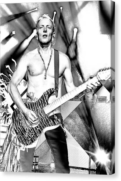 Def Leppard Canvas Print - Phil Collen With Def Leppard by David Patterson