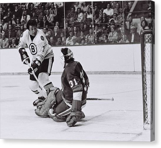 New York Islanders Canvas Print - Phil Esposito by Positive Images