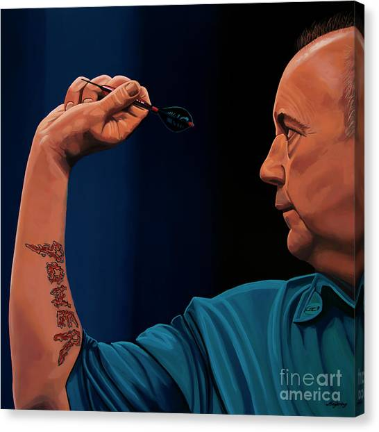 Snaps Canvas Print - Phil Taylor The Power by Paul Meijering