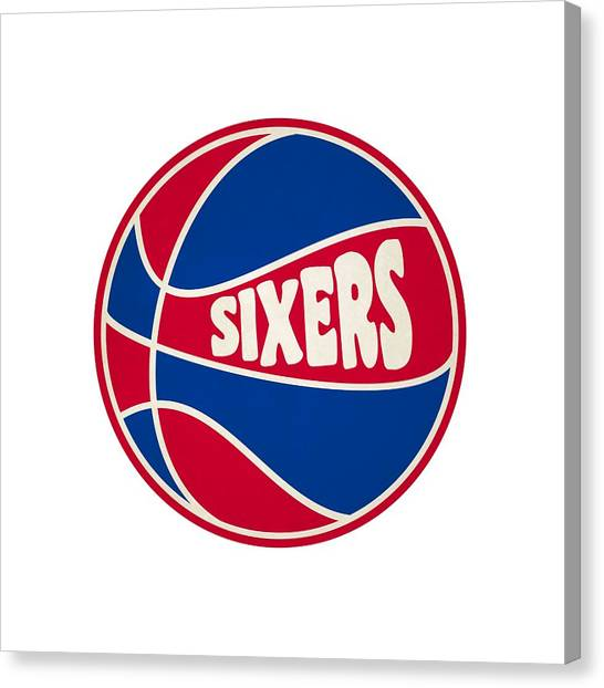Philadelphia Sixers Canvas Print - Philadelphia 76ers Retro Shirt by Joe Hamilton