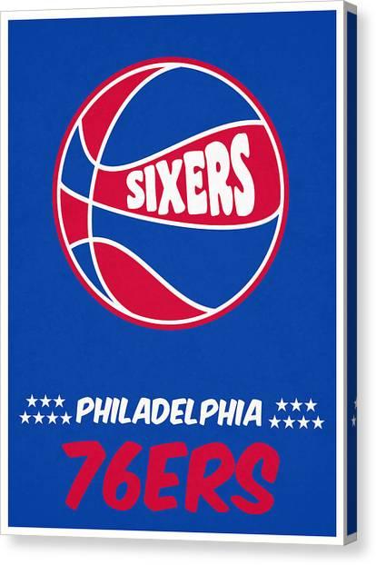 Philadelphia Sixers Canvas Print - Philadelphia 76ers Vintage Basketball Art by Joe Hamilton