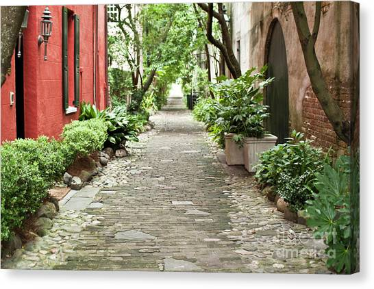Philadelphia Canvas Print - Philadelphia Alley Charleston Pathway by Dustin K Ryan