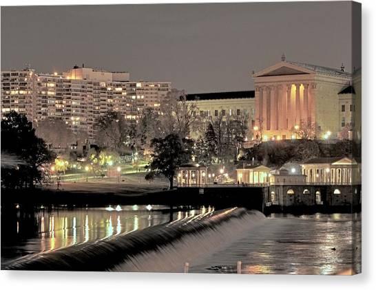 Philadelphia Art Museum In Pastel Canvas Print
