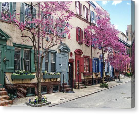Canvas Print featuring the photograph Philadelphia Blossoming In The Spring by Bill Cannon