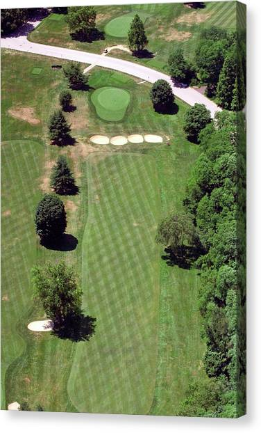 Philadelphia Cricket Club Canvas Print - Philadelphia Cricket Club St Martins Golf Course 3rd Hole 415 West Willow Grove Ave Phila Pa 19118 by Duncan Pearson