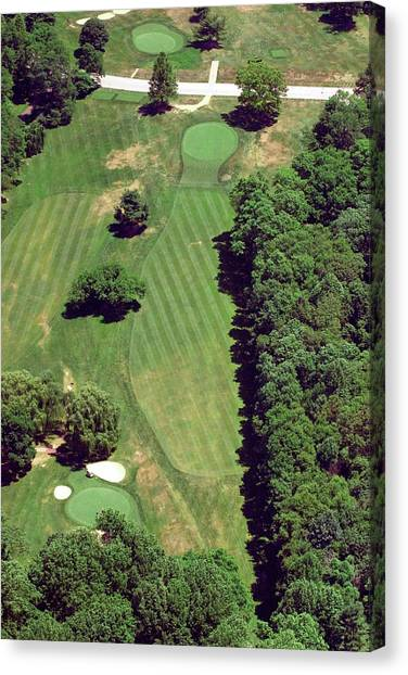 Cricket Club Canvas Print - Philadelphia Cricket Club St Martins Golf Course 6th Hole 415 West Willow Grove Ave Phila Pa 191118 by Duncan Pearson