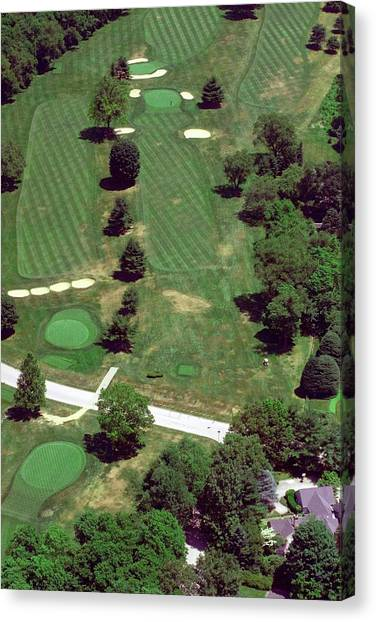 Cricket Club Canvas Print - Philadelphia Cricket Club St Martins Golf Course 7th Hole 415 W Willow Grove Ave Phila Pa 19118 by Duncan Pearson