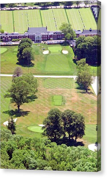 Philadelphia Cricket Club Canvas Print - Philadelphia Cricket Club St Martins Golf Course 9th Hole 415 W Willow Grove Ave Phila Pa 19118 by Duncan Pearson