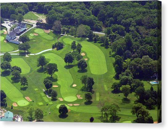 Philadelphia Cricket Club Wissahickon Golf Course 1st And 18th Holes Canvas Print