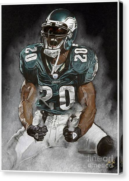 Philadelphia Eagles Canvas Print - Philadelphia Eagles Brian Dawkins The Legend by Jordan Spector