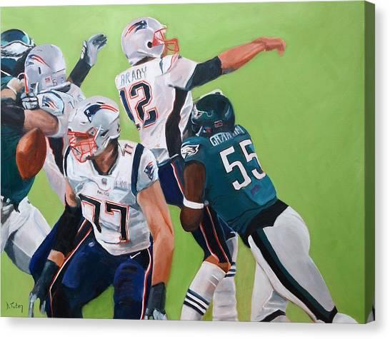 Philadelphia Eagles Strip-sack Of Tom Brady In Super Bowl Lii  Canvas Print