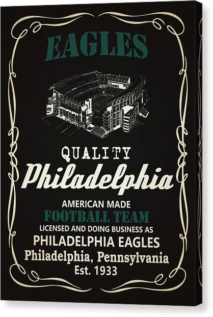 Philadelphia Eagles Canvas Print - Philadelphia Eagles Whiskey by Joe Hamilton