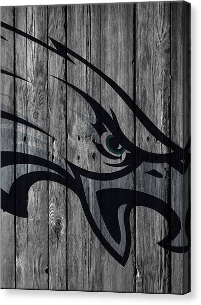 Philadelphia Eagles Canvas Print - Philadelphia Eagles Wood Fence by Joe Hamilton