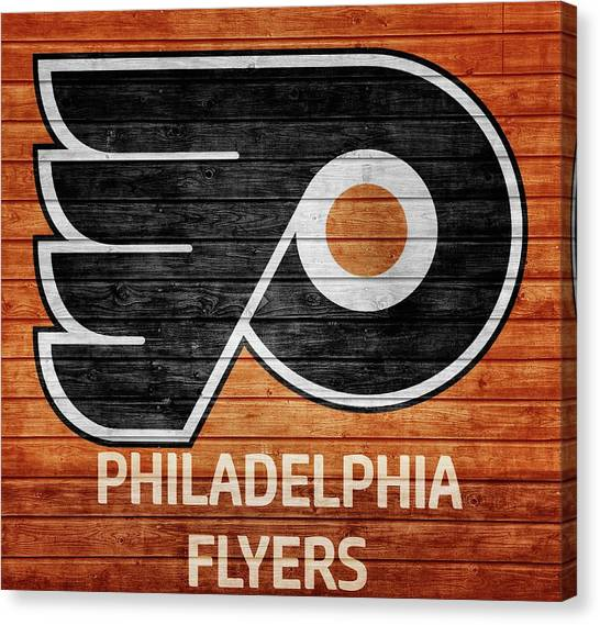Philadelphia Flyers Canvas Print - Philadelphia Flyers Barn Door by Dan Sproul