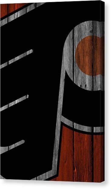 Philadelphia Flyers Canvas Print - Philadelphia Flyers Wood Fence by Joe Hamilton