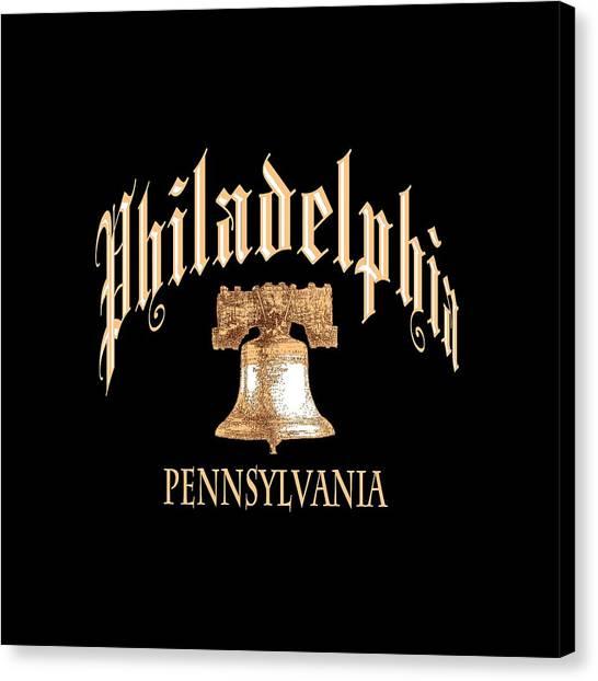 Philadelphia Pennsylvania Design Canvas Print