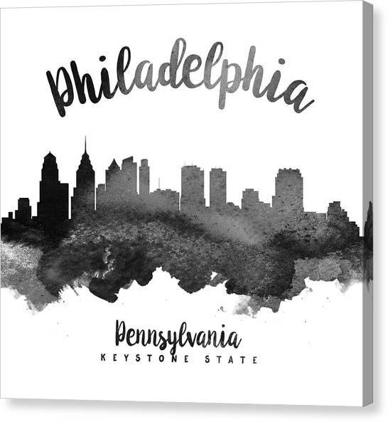 Philadelphia Skyline Canvas Print - Philadelphia Pennsylvania Skyline 18 by Aged Pixel