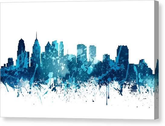 Philadelphia Skyline Canvas Print - Philadelphia Pennsylvania Skyline 19 by Aged Pixel