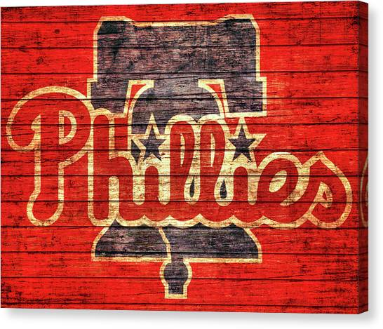 Philly Canvas Print - Philadelphia Phillies Barn Door by Dan Sproul