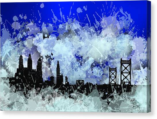 Philadelphia Skyline.1 Canvas Print