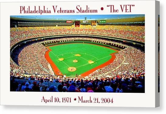 Philadelphia Veterans Stadium The Vet Canvas Print