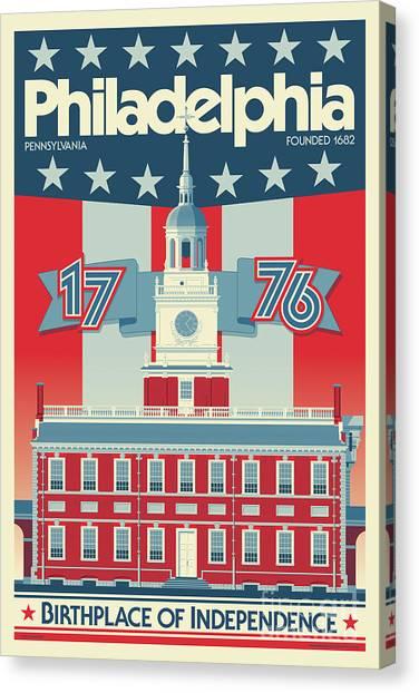 Philadelphia Phillies Canvas Print - Philadelphia Vintage Travel Poster by Jim Zahniser