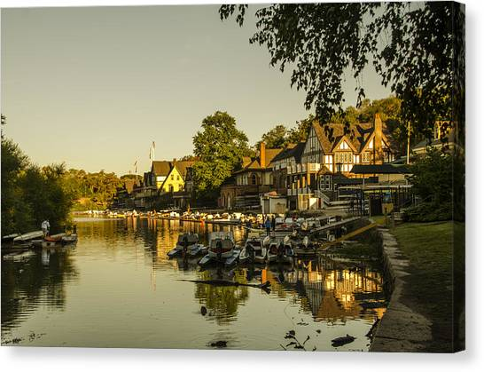Philidelphia Canvas Print - Philadelphia's Boathouse Row - The Golden Hour by Bill Cannon