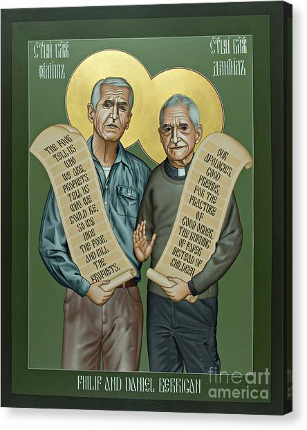 Philip And Daniel Berrigan Canvas Print