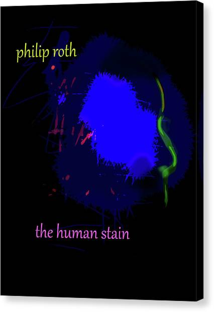 Imaginary Worlds Canvas Print - Philip Roth Poster  by Paul Sutcliffe
