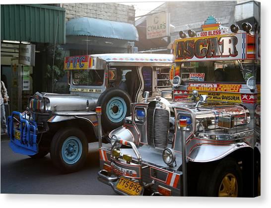 Philippine Jeepneys.  Canvas Print