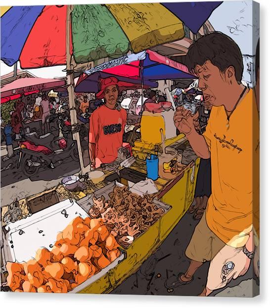Philippines 1299 Street Food Canvas Print