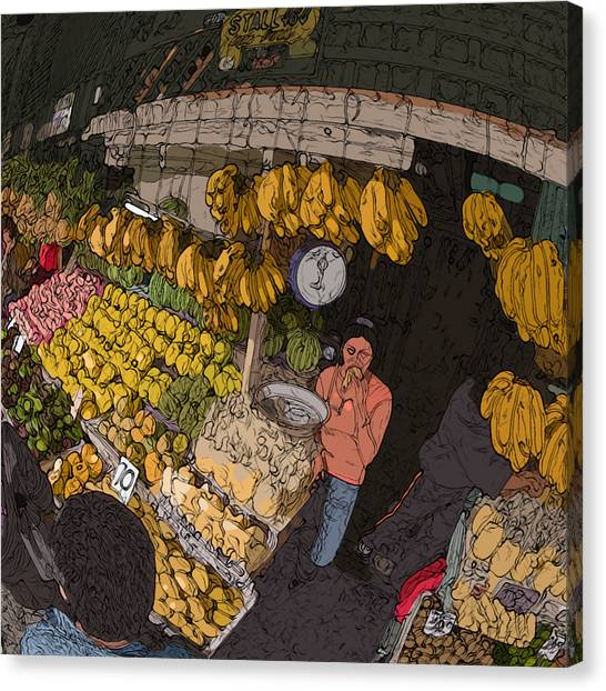 Philippines 3575 Saging Sales Lady Canvas Print