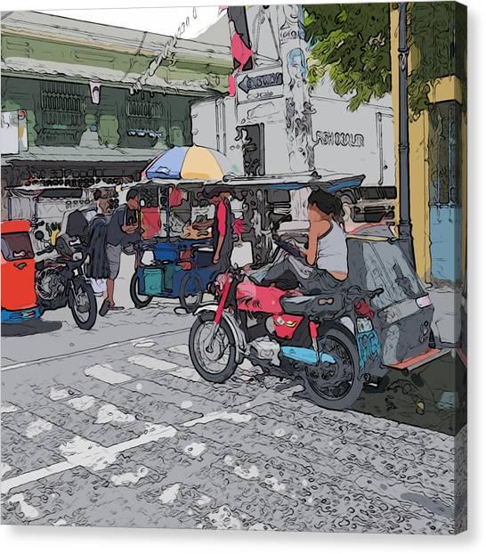 Philippines 673 Street Food Canvas Print